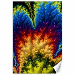 Amazing Special Fractal 25a Canvas 12  X 18   by Fractalworld