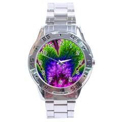 Amazing Special Fractal 25c Stainless Steel Analogue Watch