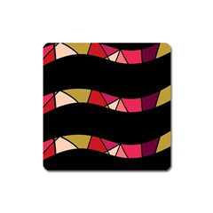 Abstract Waves Square Magnet by Valentinaart