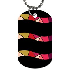 Abstract Waves Dog Tag (one Side) by Valentinaart