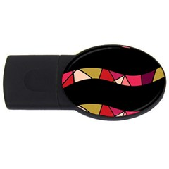 Abstract Waves Usb Flash Drive Oval (2 Gb)  by Valentinaart