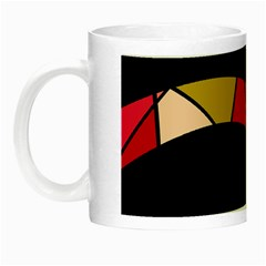 Abstract Waves Night Luminous Mugs