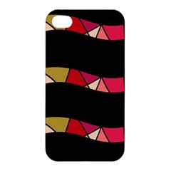 Abstract Waves Apple Iphone 4/4s Premium Hardshell Case by Valentinaart
