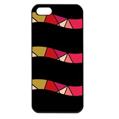 Abstract Waves Apple Iphone 5 Seamless Case (black) by Valentinaart
