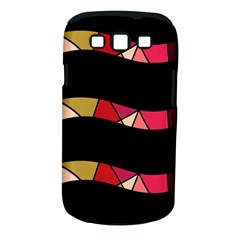 Abstract Waves Samsung Galaxy S Iii Classic Hardshell Case (pc+silicone) by Valentinaart