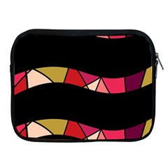 Abstract Waves Apple Ipad 2/3/4 Zipper Cases by Valentinaart