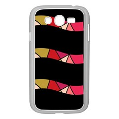 Abstract Waves Samsung Galaxy Grand Duos I9082 Case (white) by Valentinaart