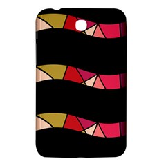 Abstract Waves Samsung Galaxy Tab 3 (7 ) P3200 Hardshell Case  by Valentinaart