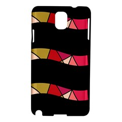 Abstract Waves Samsung Galaxy Note 3 N9005 Hardshell Case by Valentinaart