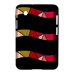 Abstract Waves Samsung Galaxy Tab 2 (7 ) P3100 Hardshell Case  by Valentinaart