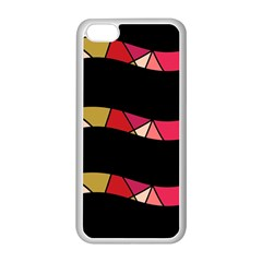 Abstract Waves Apple Iphone 5c Seamless Case (white) by Valentinaart