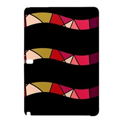 Abstract Waves Samsung Galaxy Tab Pro 12 2 Hardshell Case by Valentinaart
