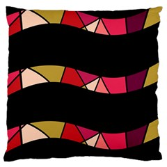 Abstract Waves Large Flano Cushion Case (two Sides) by Valentinaart