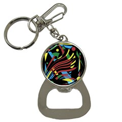 Optimistic Abstraction Bottle Opener Key Chains by Valentinaart