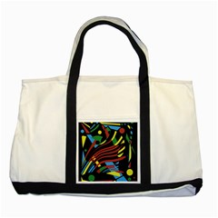 Optimistic Abstraction Two Tone Tote Bag by Valentinaart