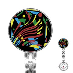 Optimistic Abstraction Stainless Steel Nurses Watch by Valentinaart