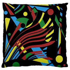 Optimistic Abstraction Large Flano Cushion Case (one Side) by Valentinaart