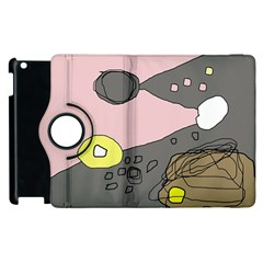 Decorative Abstraction Apple Ipad 2 Flip 360 Case by Valentinaart