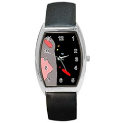 Crazy Abstraction Barrel Style Metal Watch by Valentinaart