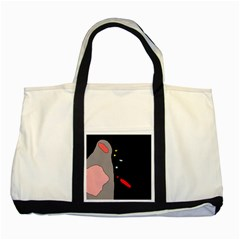Crazy Abstraction Two Tone Tote Bag by Valentinaart