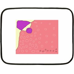 Pink Abstraction Double Sided Fleece Blanket (mini)  by Valentinaart