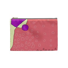 Pink Abstraction Cosmetic Bag (medium)  by Valentinaart