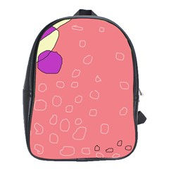Pink Abstraction School Bags(large)  by Valentinaart