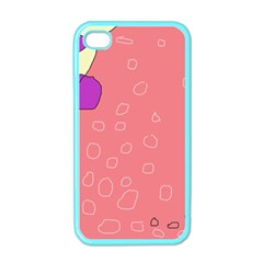 Pink Abstraction Apple Iphone 4 Case (color) by Valentinaart