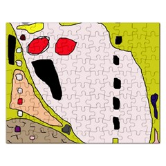 Yellow Abstraction Rectangular Jigsaw Puzzl by Valentinaart