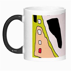 Yellow Abstraction Morph Mugs by Valentinaart