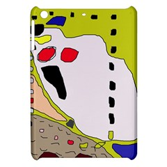 Yellow Abstraction Apple Ipad Mini Hardshell Case by Valentinaart
