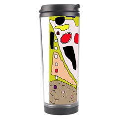 Yellow Abstraction Travel Tumbler by Valentinaart