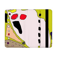 Yellow Abstraction Samsung Galaxy Tab Pro 8 4  Flip Case by Valentinaart