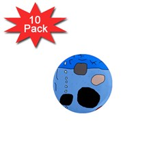 Blue Abstraction 1  Mini Magnet (10 Pack)  by Valentinaart