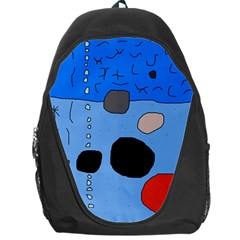 Blue Abstraction Backpack Bag by Valentinaart