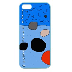 Blue Abstraction Apple Seamless Iphone 5 Case (color) by Valentinaart