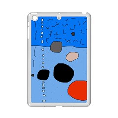 Blue Abstraction Ipad Mini 2 Enamel Coated Cases by Valentinaart