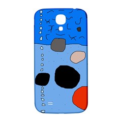 Blue Abstraction Samsung Galaxy S4 I9500/i9505  Hardshell Back Case by Valentinaart