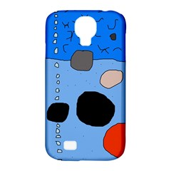 Blue Abstraction Samsung Galaxy S4 Classic Hardshell Case (pc+silicone) by Valentinaart