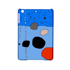 Blue Abstraction Ipad Mini 2 Hardshell Cases by Valentinaart