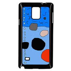 Blue Abstraction Samsung Galaxy Note 4 Case (black) by Valentinaart