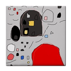 Playful Abstraction Tile Coasters by Valentinaart
