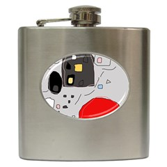 Playful Abstraction Hip Flask (6 Oz) by Valentinaart
