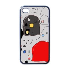 Playful Abstraction Apple Iphone 4 Case (black) by Valentinaart