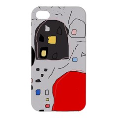 Playful Abstraction Apple Iphone 4/4s Hardshell Case by Valentinaart