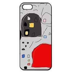 Playful Abstraction Apple Iphone 5 Seamless Case (black) by Valentinaart
