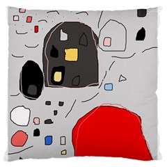 Playful Abstraction Large Flano Cushion Case (two Sides) by Valentinaart