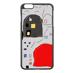 Playful Abstraction Apple Iphone 6 Plus/6s Plus Black Enamel Case by Valentinaart