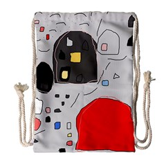 Playful Abstraction Drawstring Bag (large) by Valentinaart