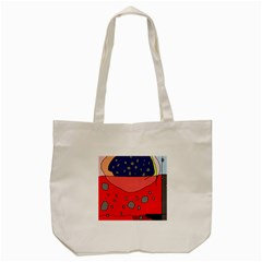 Playful Abstraction Tote Bag (cream) by Valentinaart